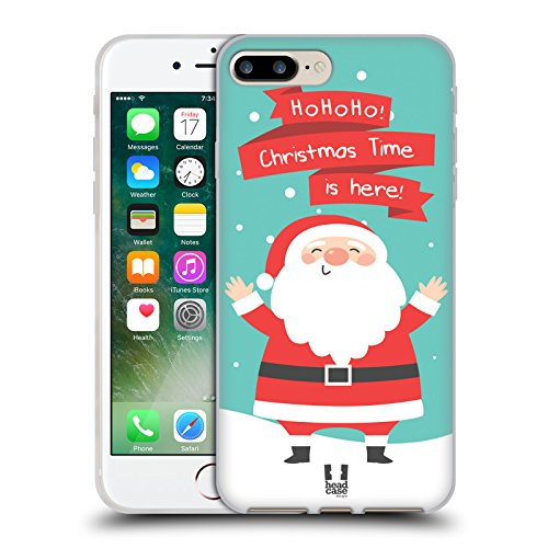 Head Case Designs Babbo Natale Cartoni Di Un Felice Natale Cover Morbida In Gel Per Apple iPhone 7 Plus / 8 Plus