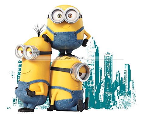 9 Inch Stuart Kevin Bob Minions Despicable Me Removable Wall Decal Sticker Art Home Decor Kids Room-9 Inch Wide By 7 1/2 Inch (Party City Minions)