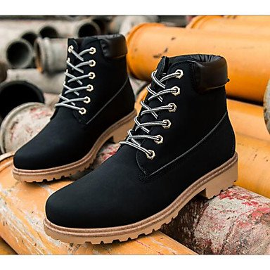 Pu Ankle Black Shoes RTRY Boots 5 Booties Boots Heel Nappa US6 Snow EU37 Women'S Casual Flat Fashion 5 CN37 For Brown Boots 7 UK4 Winter Yellow Leather Boots 5 6RwqE