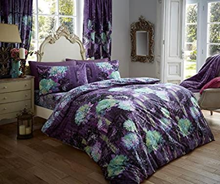 Luxury Duvet Cover Sets Printed Polycotton New Prism Purple