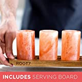 Himalayan Salt Shot Glasses 4 Pack With Acacia Wood Serving Board from Root7. Salt Shot Tequila Glasses. FDA Approved Ethically Sourced 100% Natural Himalayan Salt Shot Glasses.