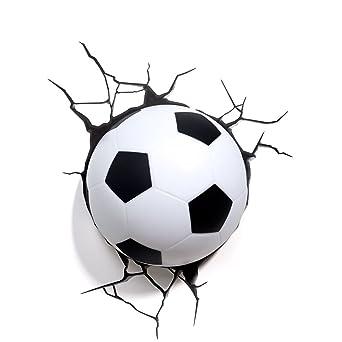 Mini 3d Fussball Wandleuchte Crack Tapete Kreative Lampen