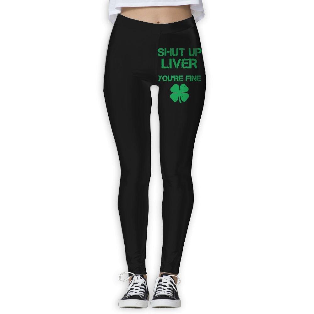 DDCYOGA Shut Up Liver You're Fine Women's Power Flex Yoga Pants Workout Yoga Bike Leggings For Women