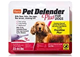 HARTZ Pet Defender Plus Flea & Tick Drops for Dogs and Puppies 23-44lbs - 3 Monthly Treatments
