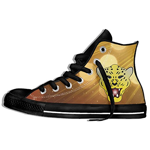 Leopard Print High Top - Angry Leopard Print High Top Classic Casual Canvas Fashion Shoes Sneakers For Women & Men