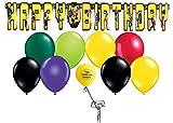 Lego Batman Happy Birthday Banner with Balloons