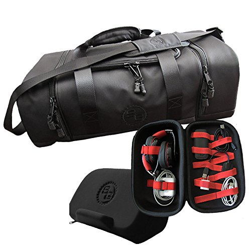 StatGear Bundle - Water Resistant Nylon Diem Duffel Bag and Accessory Case by StatGear