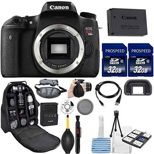 Canon EOS Rebel T6S DSLR Camera . Kit Includes, 2Pcs 32GB Co