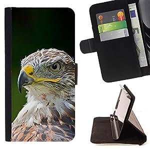 - eagle hawk bird feathers green summer - - Prima caja de la PU billetera de cuero con ranuras para tarjetas, efectivo desmontable correa para l Funny HouseFOR HTC One M8