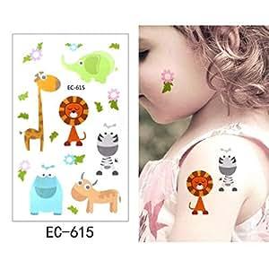 adgkitb Etiqueta engomada del Tatuaje Temporal 5pcs Animal ...