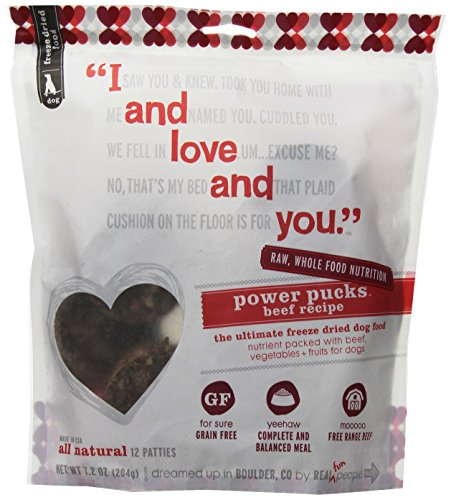I And Love And You, Freeze Dried Dog Food Power Pucks, Beef Recipe, 7.2 Ounces