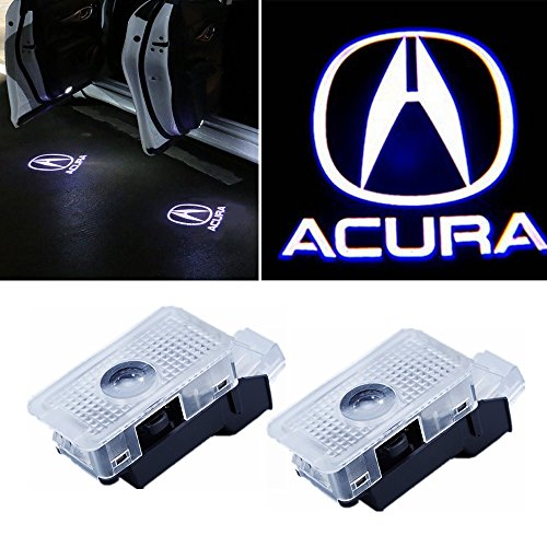 2 Pieces Car Door LED Logo Projector Ghost Shadow Lights Welcome Lamp Easy Installation for Acura