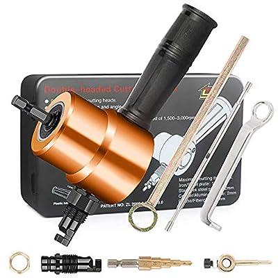 Nibbler Cutter Drill Attachment Paick Double Head Metal Sheet