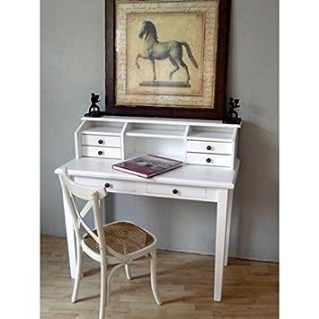 Sekretär MAURICE weiß Schreibtisch antik Pinie: Amazon.de: Küche ...