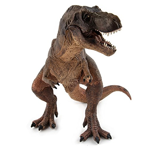 Dinosaurs T-Rex Figure Model Toy Jurassic World Park Brown -