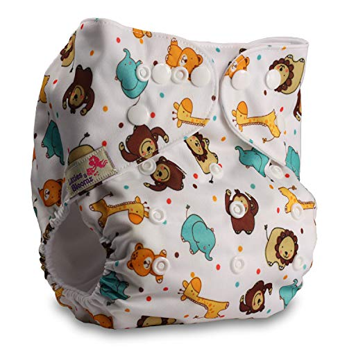 Pattern 59 Littles /& Bloomz Reusable Pocket Cloth Nappy with 1 Bamboo Insert Fastener: Hook-Loop Set of 1