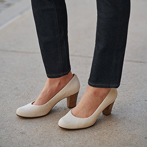 Shoes Midtown Marc Joseph Made Pebble Pump in Women's Pebble NY Ivory Grainy Fashion Brazil IwB8wx