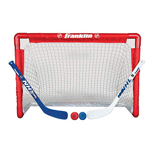 Franklin NHL Street Hockey Goal, Stick and Ball Set (Renewed)]()