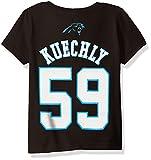 NFL Toddler Luke Kuechly Carolina Panthers Mainliner Player Name & Number Short Sleeve Tee, 3 Tall, Black,
