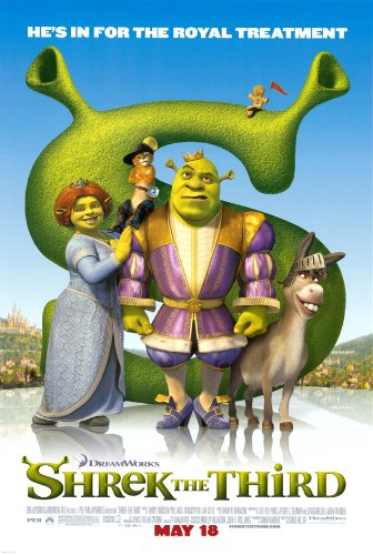 (SHREK THE THIRD MOVIE POSTER 2 Sided ORIGINAL 27x40 MIKE MYERS)