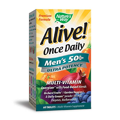 Natures 60 Tabs Way - Nature's Way Alive Once Daily Men's 50+ Ultra Potency Tablets, 60