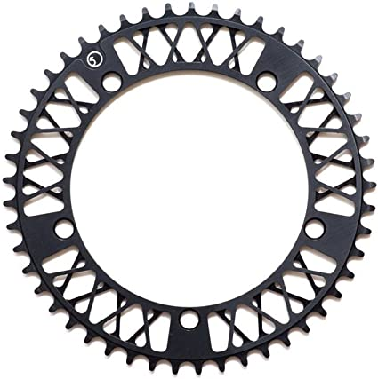 F5 Lattice Chainring 47... Anodized Black State Bicycle Co.Factory Five