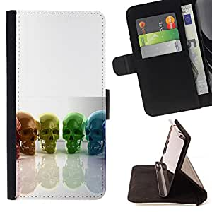 Super Marley Shop - Leather Foilo Wallet Cover Case with Magnetic Closure FOR Sony Xperia Z3 D6653- Skull Devil Pattern