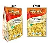 Dwaraka Organic Chana Dal Chickpeas Washed Split Lentil USDA Organic (2 lbs / 908 g)