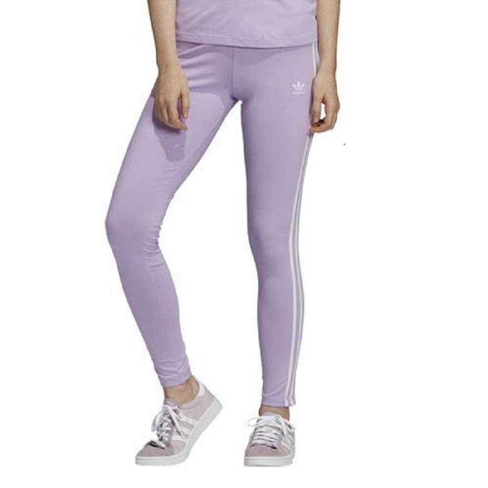 adidas Originals Women's 3 Stripes Legging, purple glow, Large by adidas Originals