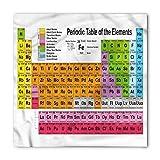 Ambesonne Unisex Bandana, Periodic Table Chemistry Lovers, White Pink