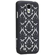 GreatShield(™) Samsung Galaxy S4 / S IV / GT-I9500 TACT Design Ultra Slim Fit [DAMASK Pattern] Protective Hard Rubber Coating Back Case Cover (Black)
