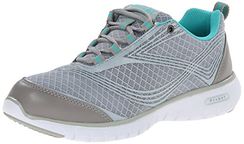Propet Women's Travellite Walking Shoe, Silver, 8.5 M US