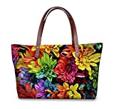 Vintage colorful flowers women bag large capacity bag lady fashion style flower bag Messenger Bag Lady.