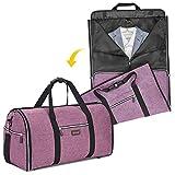 Biaggi Luggage Hangeroo Pro, Garment Bag + Duffel, Purple