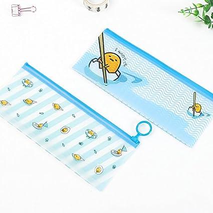 Estuche para lápices de huevos de barco translúcido, estuche para lápices: Amazon.es: Oficina y papelería