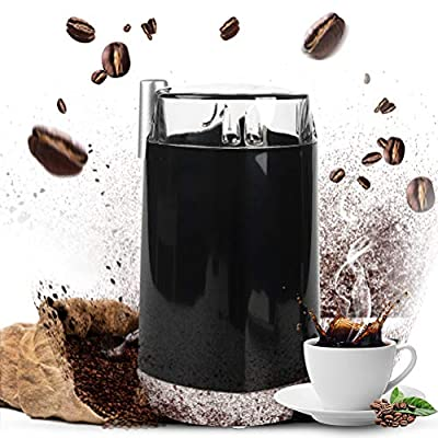 Electric Coffee Bean Grinder,Stainless Steel with Blades for Spices, Herbs, Nuts, Grains