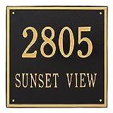 Custom 15'' Square Estate Address Plaque (2 Lines)