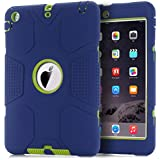 iPad Mini Case, iPad Mini 2 Case,iPad Mini 3 Case,TOPSKY [Robot Series] High Impact Defender Shockproof Case For iPad Mini/ iPad Mini 2/ iPad Mini 3, Navy Blue/Lemony Yellow