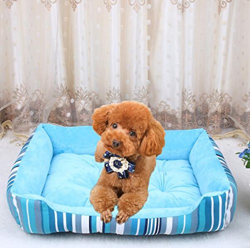 Pet Bed Four Seasons Universal Canvas Kennel Pet Nest bluee Vellhater