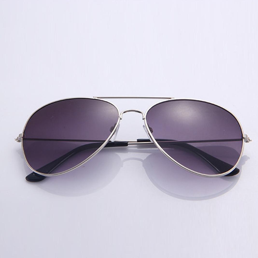Gusspower Aviador de Metal Cl/ásico Marco del Espejo Lente Gafas de Sol
