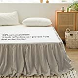 Simple&Opulence 100% Belgian Linen Bed Skirt with