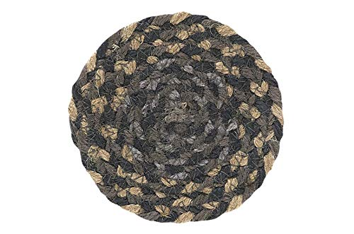 IHF Home Decor Farmyard Jute Braided Coaster Rug 4.5 Inch Set of 4 from IHF Home Decor