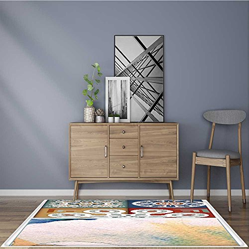 for Home or Travel digital tile design Easier to Dry for Bathroom 22''x60'' by L-QN