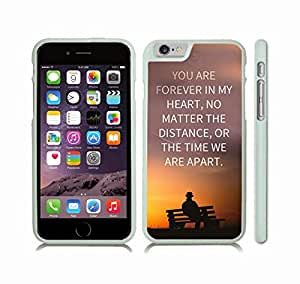 "iStar Cases? iPhone 6 Case with Inspirational ""If the only possible way we can be together is in my dreams, then I'll sleep forever"" Flower Design , Snap-on Cover, Hard Carrying Case (White)"