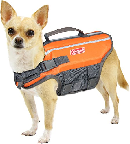 Coleman High Visibility Lifejacket for Small to Large Dogs, Yellow, Size Small / 4\' x 12\' x 3\''