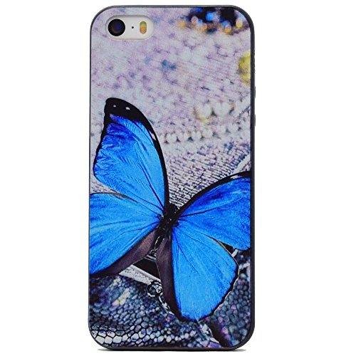 HYAIT® For IPHONE 5S/SE [XXG BLACK V2]Scratch-Proof Ultra Thin Rubber Gel TPU Soft Silicone Bumper Case Cover -BKI02
