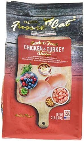 Amazon Com Fussie Cat Dry Cat Food Bag Chicken Turkey 2 By Fussie Cat Pet Supplies