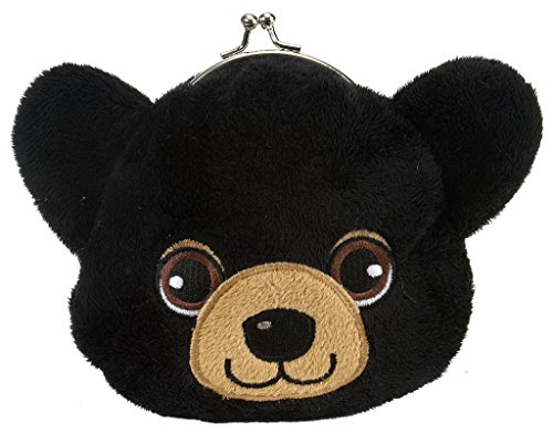 "Price comparison product image Clasp Black Bear Purse 6"" by Wild Republic"