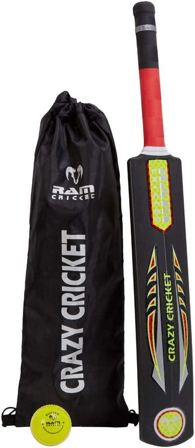 Quick Beach Crazy Cricket Bat and Softee Ball Park Ram Crazy Cricket Bat and Ball Set Kwik