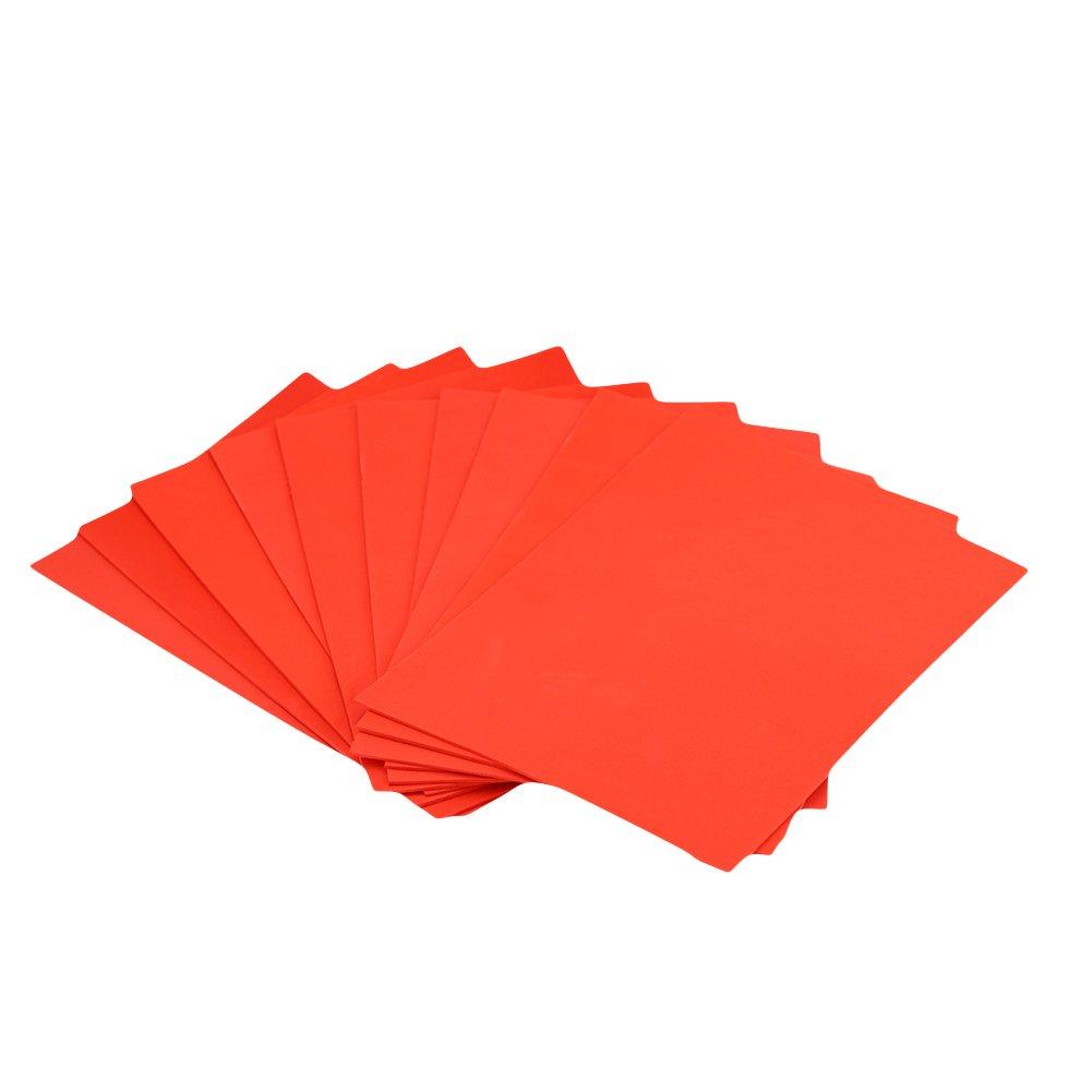 EVA Foam Paper Sheet (50 pcs)-8x12 Inch-2mm Thick A4 Size for Children's Craft Activities DIY Cutters Art-21x30cm (Red)